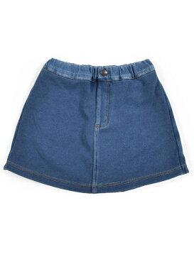 【SALE/62%OFF】SLAP SLIP 無地 チェリー 総柄 ボンディング デニム スカートパンツ (80cm~130cm) ベベ オンライン ストア パンツ/ジーンズ ショートパンツ ネイビー ブルー
