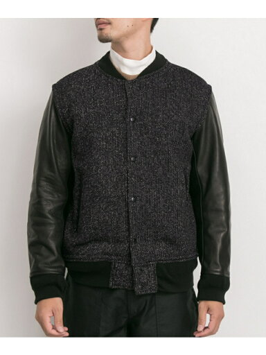Freemans Sporting Club x Brown's Beach Varsity Jacket UF86-17Y023: Goma Black