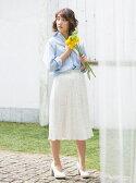 【SALE/60%OFF】MERCURYDUO ドットプリーツスカート マーキュリーデュオ スカート【RBA_S】【RBA_E】【送料無料】