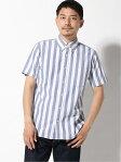 VAN Jacket Bold Stripe Short Sleeve Buttondown Shirt EH91031