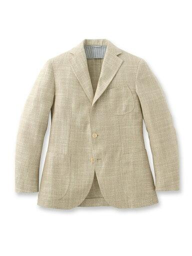 Silk Linen Cotton Jacket 086-48006: Natural