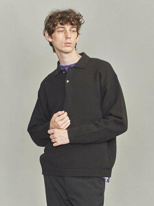 【SALE/66%OFF】BEAUTY & YOUTH UNITED ARROWS BY バルキー ピケ ニット ポロシャツ ユナイテッドアローズ アウトレット ニット 長袖ニット ブラック ピンク【送料無料】