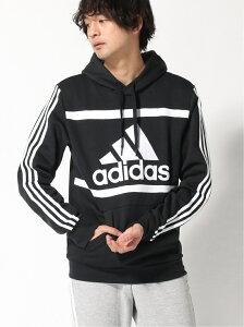 adidas Sports Performance エッセンシャルズ ロゴ カラーブロック パーカー [Essentials Logo Colorblock Hoodie] アディダス アディダス カットソー パーカー ブラック ブルー ホワイト