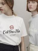 【SALE/10%OFF】beautiful people diorama span mock neck T-shirt ビューティフル ピープル カットソー【RBA_S】【RBA_E】【送料無料】