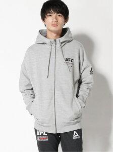 Reebok (M)UFC FG FIGHT WEEK HOODIE リーボック カットソー パーカー グレー ブラウン【送料無料】