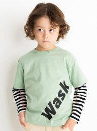 WASK 半袖無地 + 長袖ボーダー Tシャツ セット (100~160cm) ベベ オンライン ストア その他 その他 グリーン ブラック【送料無料】