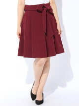 ウエストリボンタックフレアースカート ◆