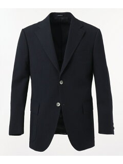 J. Press Cotton Silk Seersucker Sack Sportcoat JKOVKM0009: Navy