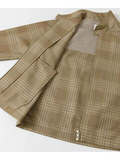 Polyester Wool Harrington Jacket UR04-17A001: Beige / Yellow