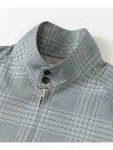 Polyester Wool Harrington Jacket UR04-17A001: Grey / Blue
