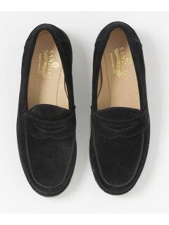 Saddle Loafer 1687: Black Suede
