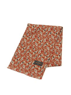 Beams Plus Silk Animal Paisley Scarf 11-45-0781-107: Red / Orange