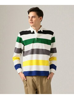J. Press Stripe Rugby Shirt KKOVKM0024: Green