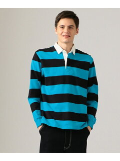 J. Press Stripe Rugby Shirt KKOVKM0024: Blue