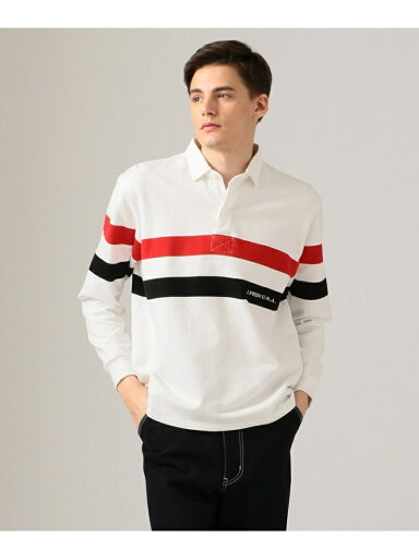J. Press Stripe Rugby Shirt KKOVKM0024: White