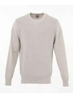 J. Press Houston Gass Crewneck Sweater KROVKM0200: Light Grey