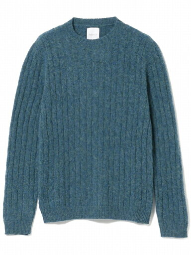 Bellwood Cable Crewneck Sweater 51-15-0451-012: Blue