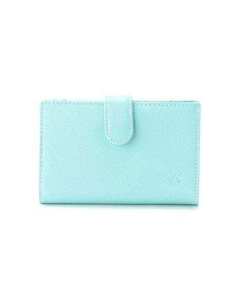 Kitamura(W)二折財布PH0451キタムラ財布/小物財布ブルーブラウンベージュネイビーイエローレッド