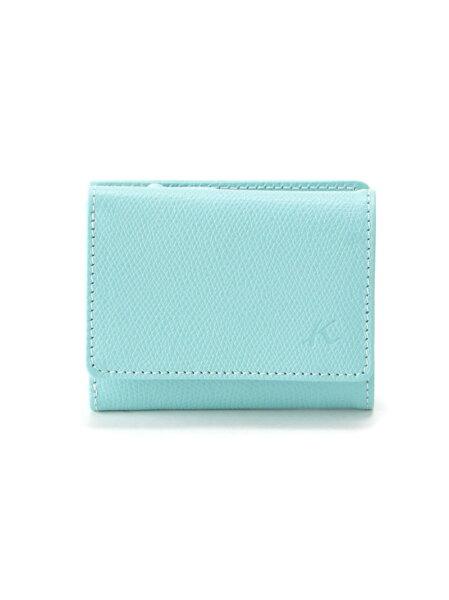Kitamura(W)三折財布PH0635キタムラ財布/小物財布ブルーブラウンベージュネイビーイエローレッド