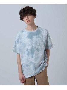【SALE/65%OFF】tk.TAKEO KIKUCHI タイダイプリントTシャツ ティーケータケオキクチ カットソー Tシャツ グレー カーキ ベージュ