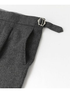 Single Pleated Pants C3-2-UF97: Charcoal
