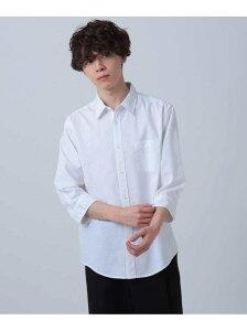 【SALE/65%OFF】tk.TAKEO KIKUCHI リネン風七分丈シャツ ティーケータケオキクチ シャツ/ブラウス シャツ/ブラウスその他 ホワイト ブラック ピンク ネイビー