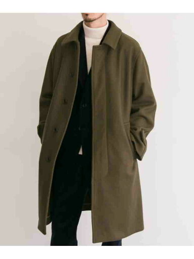 Freemans Sporting Club Bal Collar Coat C5O-1-UF97: Loden Green