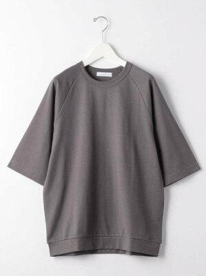 【SALE/40%OFF】UNITED ARROWS green label relaxing SCトルファンオーガニッククルーネック5分袖Tシャツカットソー ユナイテッドアローズ グリーンレーベルリラクシング カットソー Tシャツ ブルー グレー・・・ 画像2