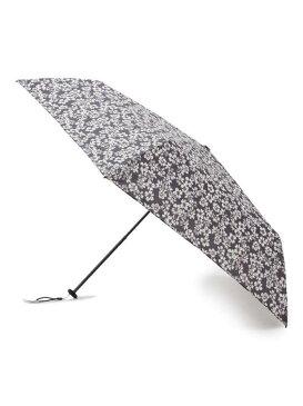 HusHusH 【超軽量/50cm】フラワー柄 折りたたみ傘(because) ハッシュアッシュ ファッショングッズ 日傘/折りたたみ傘 ブラック グリーン