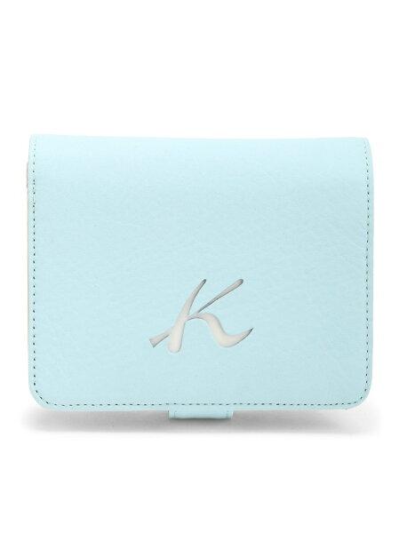 Kitamura(W)二折財布PH0334キタムラ財布/小物財布ブルーネイビーベージュレッド