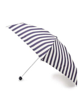 HusHusH 【晴雨兼用/50cm】 フラワー&ボーダー折りたたみ傘(because) ハッシュアッシュ ファッショングッズ 日傘/折りたたみ傘 ネイビー