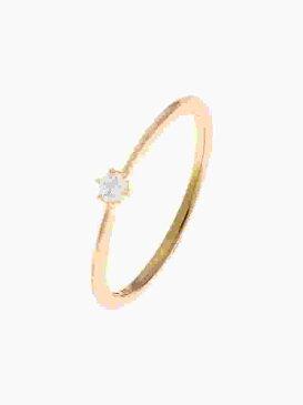 COCOSHNIK ダイヤモンドしのぎ6本爪リング ココシュニック アクセサリー リング イエロー【送料無料】