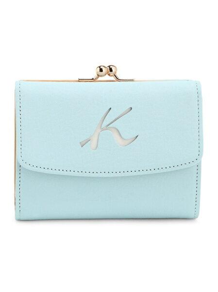 Kitamura(W)二折財布PH0385キタムラ財布/小物財布ブルーブラウンネイビーベージュレッド