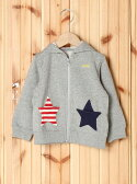 【SALE/35%OFF】X-girl Stages STAR POCKET ZIP-UP HOODIE(12M~3T) エックスガールステージス コート/ジャケット【RBA_S】【RBA_E】【送料無料】