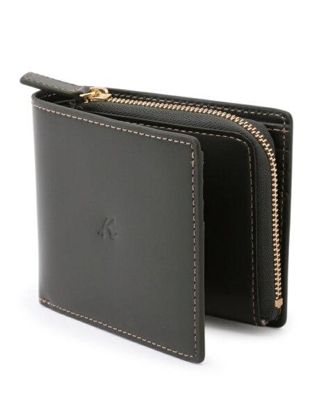 Kitamura(M)二折財布ZH0379キタムラ財布/小物財布カーキネイビーブラウンブラック