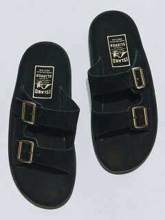 Double Strap Slippers 1431-499-7106: Black