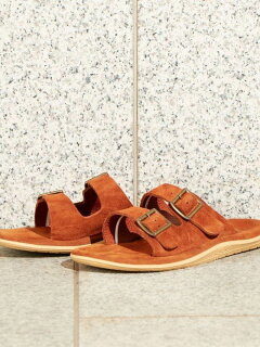 Double Strap Slippers 1431-499-7106: Brown