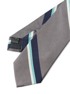 Silk Stripe Tie AF0351-91 91-44-0355-380: Grey