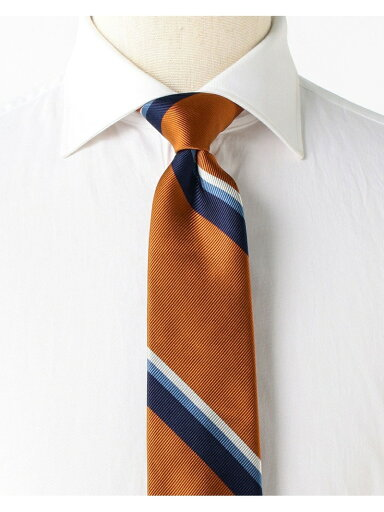 Silk Stripe Tie AF0351-91 91-44-0355-380: Orange
