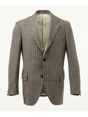 J. Press Moorland Tweed 3 Button Sack Sportcoat BROVYW0454: Beige