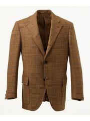 J. Press Moorland Tweed 3 Button Sack Sportcoat BROVYW0454: Brown