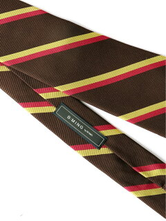 Silk Stripe Tie AF0353-91 91-44-0357-380: Brown