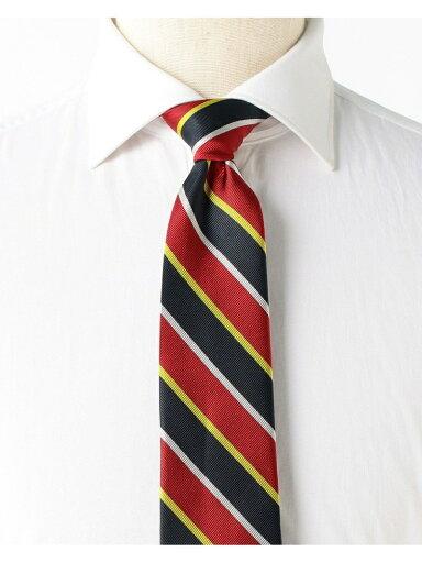 Silk Stripe Tie AF0353-91 91-44-0357-380: Red