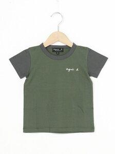 agnes b. ENFANT agnes b. ENFANT/(K)S179 キッズロゴTシャツ アニエスベー カットソー キッズカットソー カーキ【送料無料】