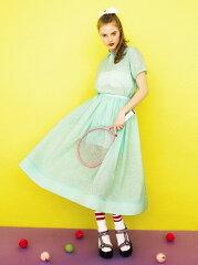 Honey mi Honey lame organdy skirt* ハニーミーハニー【先行予約】*【送料無料】