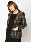 【SALE/50%OFF】PAL GROUP OUTLET [アウトレット]【W】【mystic】ウールチェックジャケット アウトレット コート/ジャケット【RBA_S】【RBA_E】【送料無料】