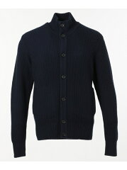 J. Press Lomas Wool Mockneck Cardigan KROVYW0414: Navy