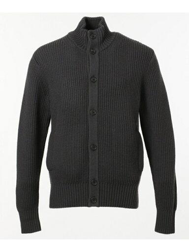 J. Press Lomas Wool Mockneck Cardigan KROVYW0414: Grey