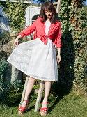 【SALE/30%OFF】MIIA ボンディング刺繍メッシュスカート ミーア スカート【RBA_S】【RBA_E】【送料無料】