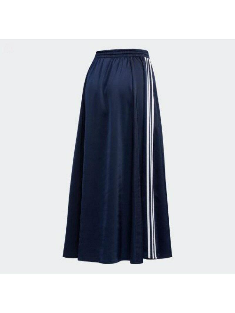 【SALE/50%OFF】adidasOriginalsロングサテンスカート[LONGSATINSKIRT]アディダスオリジナルスアディダススカートロングスカートネイビーブラック【送料無料】